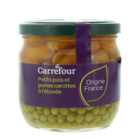 Carrefour Green Peas And Carrots Extra Fine 370ml