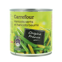 Carrefour Green Beans And White Beans Cuts 400g