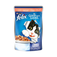 Felix As Good as it Looks Salmon Wet Cat Food Pouch 100GR