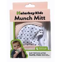Munch Mitt Baby Teething Mitten - Pastel Pink
