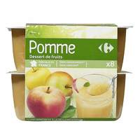 Carrefour Compote Apple Dessert 100gx8