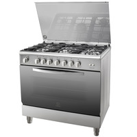 Indesit 90X60 Cm Gas Cooker I95T1CXEX 5Burners