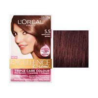 L'Oreal Paris Excellence Crème Hair Coloring Natural Mahogany Light Brown 5.5 15% Off