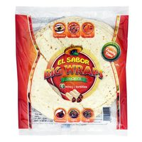 El Sabor Big Wraps Tortillas 6 Wraps 420g
