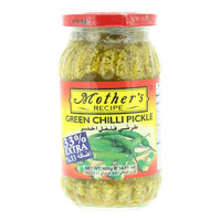 Mother's Recipe Green Chilli Pickle 400g
