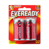 Eveready Battery Heavy Duty D 2 Batteries Red