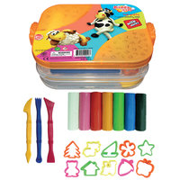 Kiddy Clay Set 7Color+10 Molding Acc