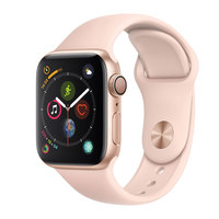 Apple Watch Series-4 GPS 40mm Gold Aluminium Case with Pink Sand Sport Band (MU682AE/A)