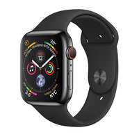 Apple Watch Series-4 GPS + Cellular 40mm Space Black Stainless Steel Case with Black Sport Band (MTVL2AE/A)