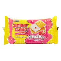 Croley Foods Sunflower Crackers Strawberry Flavor Cream Sandwich 190g