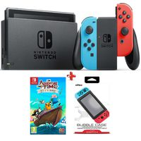 Nintendo Switch Console+Adventure Time Pirates Of The Enchiridion Game+Nyko Bubble Case