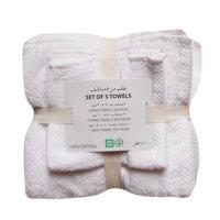 1 Pc Bath Towel+ 2 Pc Hand Towel+2 Pc Face Towel