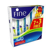 Fine facial Tissues Fluffy 200 Sheets X10