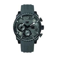 CAT Men's Watch Mossville Multi Analog Grey/Black Dial Grey Silicon Band 44mm  Case