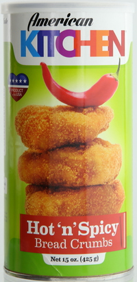 American Kitchen Bread Crumbs Hot & Spicy 425g