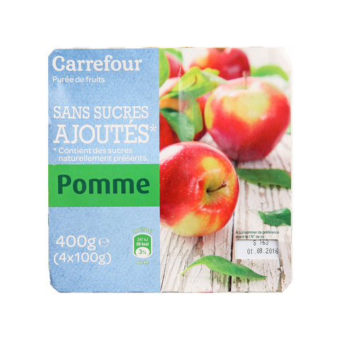 Carrefour-Dessert-Apple-Puree-100g-x4