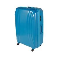 تراك هاي حقيبة سفر خامة صلبة 4 عجلات مقاس 29 انش لون أزرق