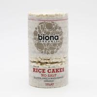 Biona Organic Rice Cakes Without Salt 100 g