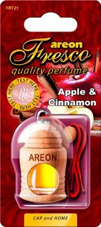 Areon Air Freshener Cardboard Car Apple And Cinnamon Fresco