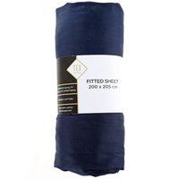 TEX Fitted Sheet King Dark Blue