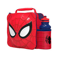 Stor Marvel Spiderman Character 3D Insulation Bag With Belt And Bottle