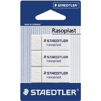 Staedtler Rasoplast Eraser Pack Of 3 Pieces white