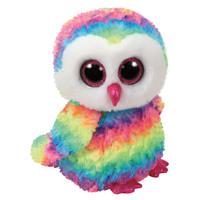 TY Beanie Boos OWEN - multicolor owl med Plush