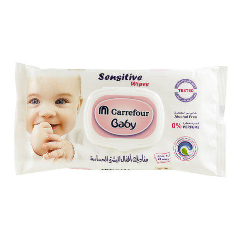 Buy Carrefour Baby Sensitive Wipes 24 Wipes Online - Shop null on ... f646d779095