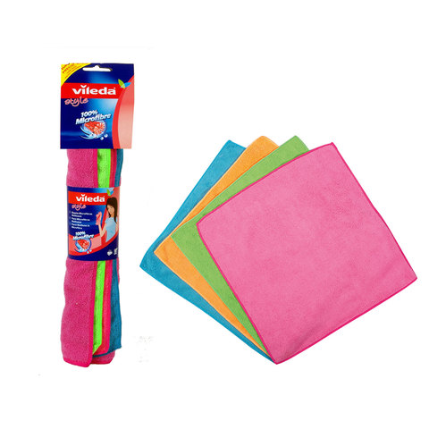 Vileda-Style-Microfiber-Cloth-/-All-Purpose-Multi-Color-Cleaning-Cloth-4Pcs