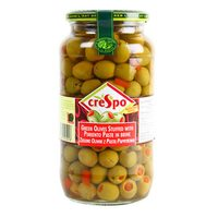 Crespo Green Olives Stuffed with Pimiento Paste in Brine 550g