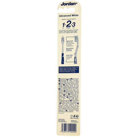 Jordan-Advance-White-Medium-Toothbrush
