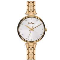 Lee Cooper Women's Analog Rose Gold Case Rose Gold Super Metal Strap Silver Dial -LC06329.430