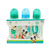 The First Years Mickey Feeding bottle 8oz Slim 3 pack