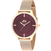 Slazenger Women's Analog Display Purple Dial Rose Gold Stainless Steel Bracelet - SL.9.6036.3.02