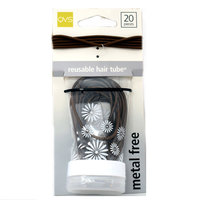 Qvs Thin Hair Elastics Brown 20 Pieces