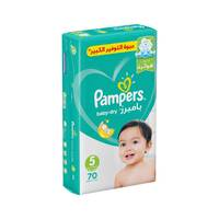 Pampers Baby-Dry Diapers Size 5 Junior Mega Pack 70 diapers