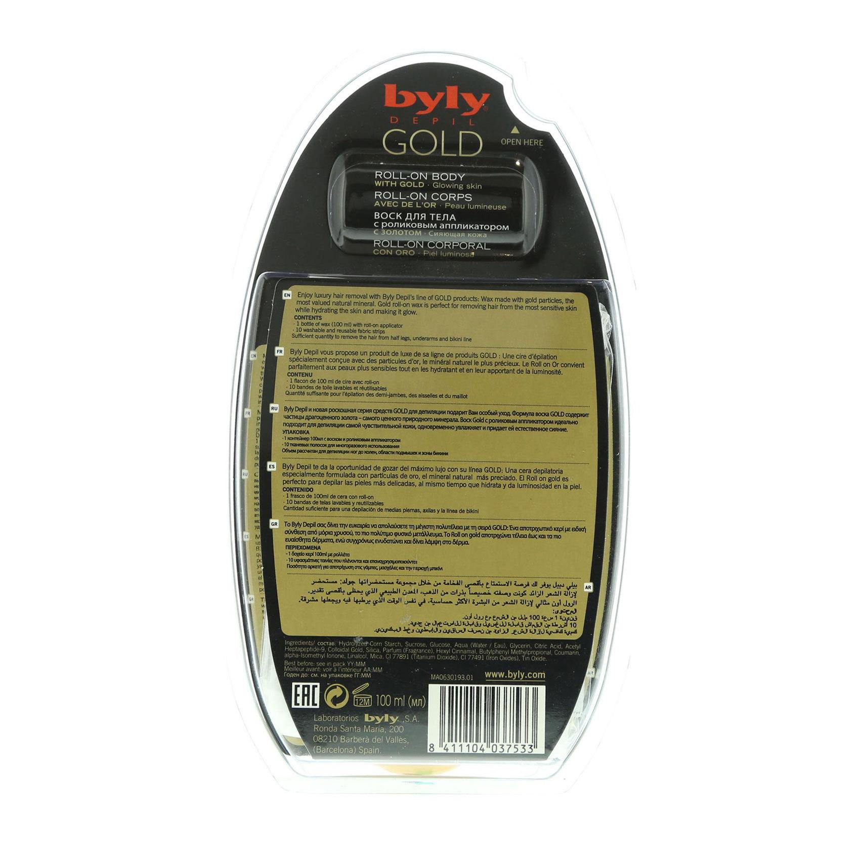 BYLY GOLD BODY ROLL-ON 100ML