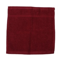 كنزي منشفة للوجه قياس 30x30 سم لون عنابي