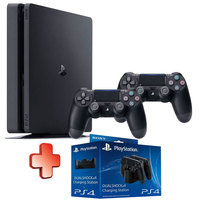Sony PS4 1TB Console+2 Wireless Controllers+Charging Station