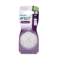 Philips Avent Natural Teats Slow Flow 2 Holes 1 Months+