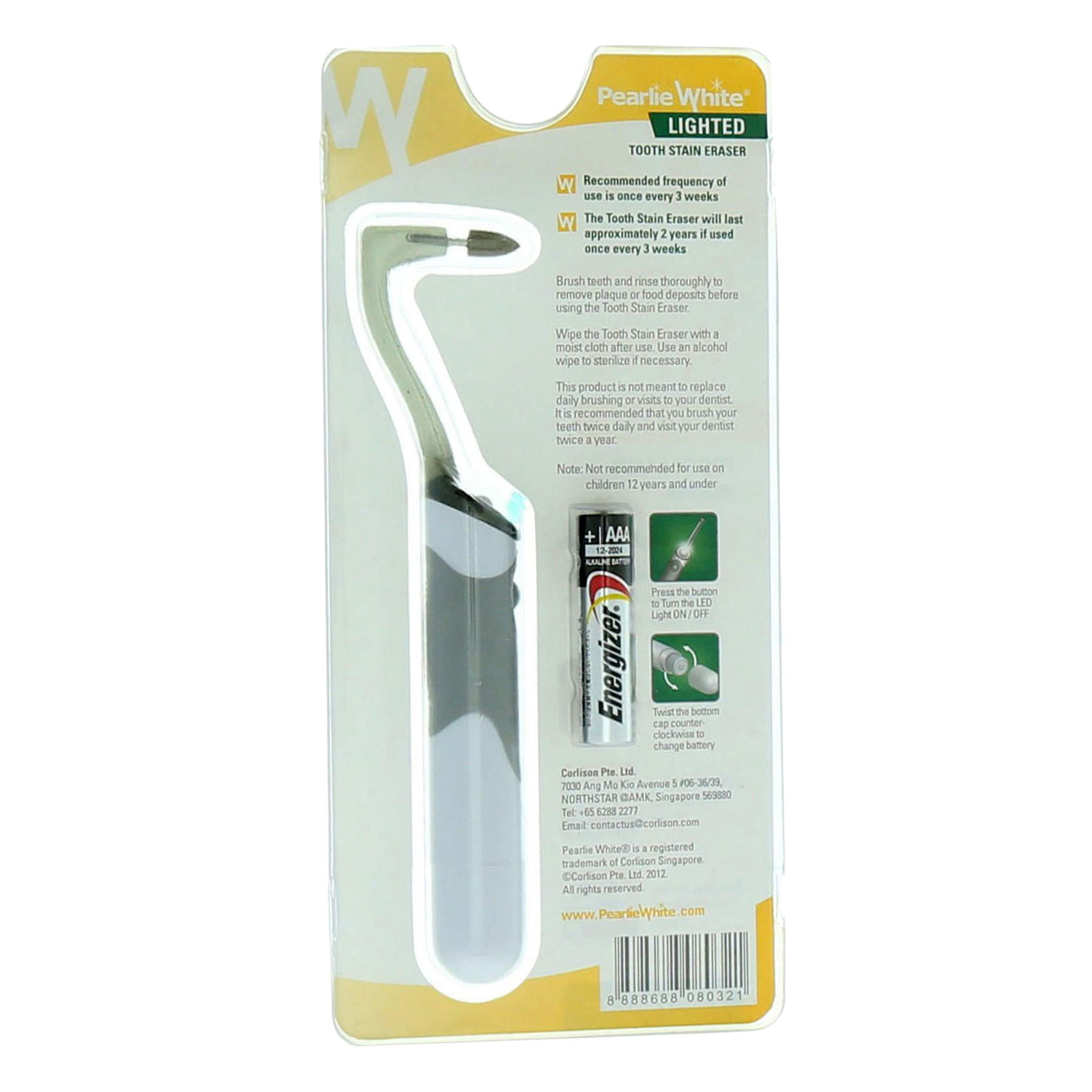 PEARLIE WHITE TOOTH STAIN ERASER