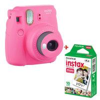 Fujifilm Instant Film Camera Instax Mini 9 Pink + Single Pack Film