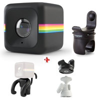 Polaroid Action Camera Cube Plus + Tripod Mount + Monkey Stand + Helmet Mount Worth 299 AED