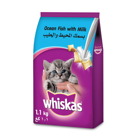 WHISKAS®-Ocean-Fish-with-Milk-Dry-Cat-Food-Junior-2-12-months-1.1-Kg