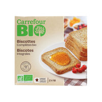 Carrefour Bio Organic  Rusk Whole Wheat 300g