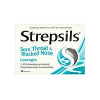 Strepsils Sore Throat And Blocked Nose Menthol 36 Lozenges