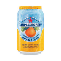 San Pellegrino Sparkling Juice Can Aranciata Orange 33CL