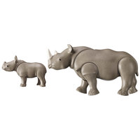Playmobil Rhino with Baby