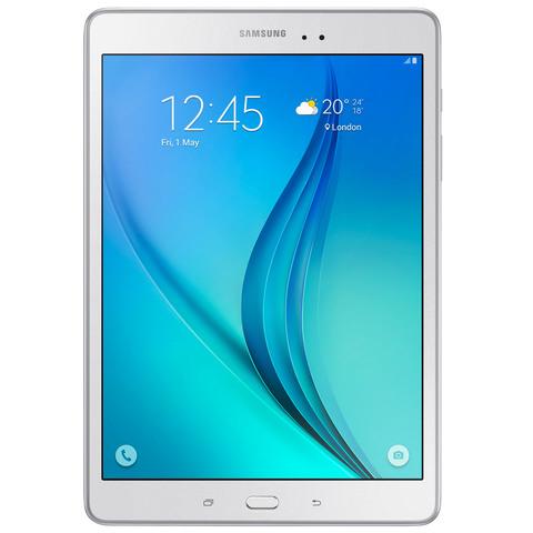 """Samsung-Tablet-T555-Quad-Core-2GB-RAM-16GB-Memory-4G-9.7""""-White"""