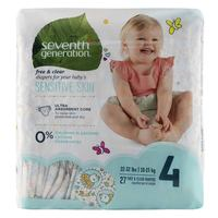 Seventh Generation Baby Diapers for Sensitive Skin Size 4 10-15kg 27 Counts